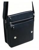 Фотография Черная кожаная вместительная мужская сумка на плечо 79889-SGE