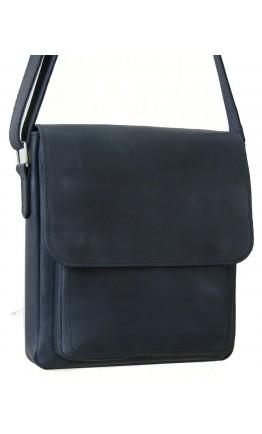Черная кожаная вместительная мужская сумка на плечо 79889-SGE