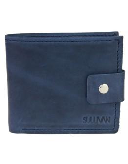 Небольшой кожаный мужской синий кошелек 798P-SKE