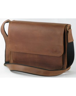 Кожаная сумка формата A4 рыжего цвета 799001-SGE