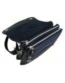 Фотография Черная небольшая кожаная удобная сумка 79955-SGE