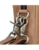 Фотография Кожаная винтажная мужская барсетка - нессер 7C016B