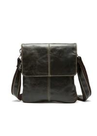 Коричневая мужская повседневная сумка из кожи m8006