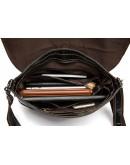 Фотография Чёрная кожаная мужская плечевая сумка 8007-1A