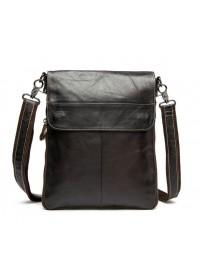 Качественная кожаная мужская повседневная сумка на плечо 7052