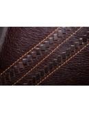 Фотография Коричневый кожаный клатч с интересным дизайном 78020C