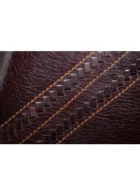 Коричневый кожаный клатч с интересным дизайном 78020C