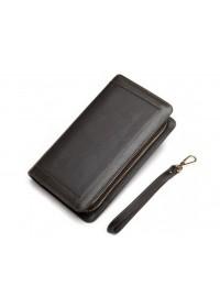 Классический коричневый кожаный мужской клатч 78023c