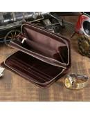 Фотография Классический коричневый кожаный мужской клатч 78023c