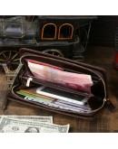 Фотография Крутая барсетка из натуральной винтажной кожи 78024C