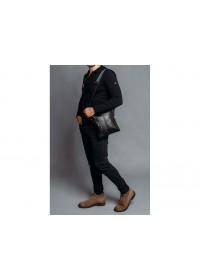 Сумка мужская на плечо планшетка кожаная Tiding Bag 80261A