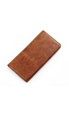 Коричневое мужское портмоне, коньячный цвет 8030B