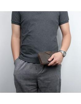Стильное мужское портмоне из превосходной кожи лошади 78032C