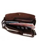 Фотография Стильная коричневая барсетка для мужчины 78036C