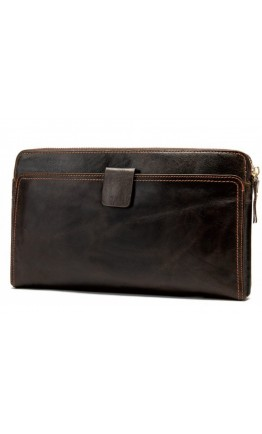 Добротная и вместительная барсетка коричневого цвета 78037c