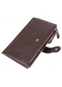 Коричневый кожаный мужской клатч 78057c