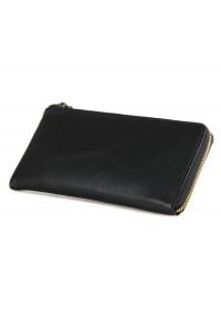 Черный клатч - портмоне из натуральной телячьей кожи 78066