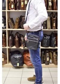 Мужская небольшая черная сумка на плечо Tarwa GA-8086-3md