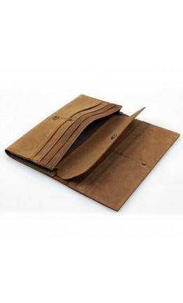Коричневый мужской винтажный клатч - кошелек 8110B-1