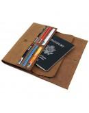 Фотография Коричневый мужской винтажный клатч - кошелек 8110B-1