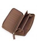 Фотография Клатч мужской кожаное коричневое портмоне 8127-2R