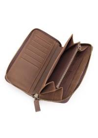Клатч мужской кожаное коричневое портмоне 8127-2R