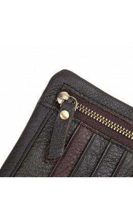 Кожаный коричневый мужской клатч 8140q