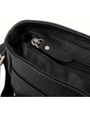 Фотография Чёрная кожаная сумка мужская на плечо 819A