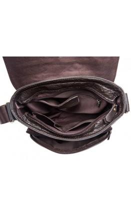 Коричневая повседневная мужская сумка через плечо 819C