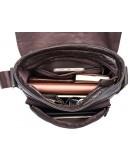 Фотография Коричневая повседневная мужская сумка через плечо 819C