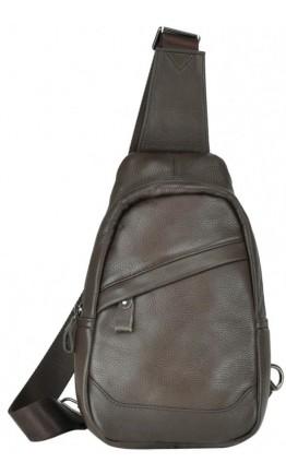 Коричневый кожаный мужской слинг 8437C