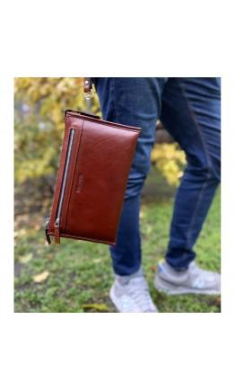 Большой мужской коричневый клатч Marco Coverna 8519-3-brown