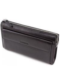Кожаный черный клатч Marco Coverna 8543-3 black