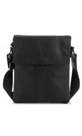 Черная сумка кожаная на плечо Tiding Bag 8678A