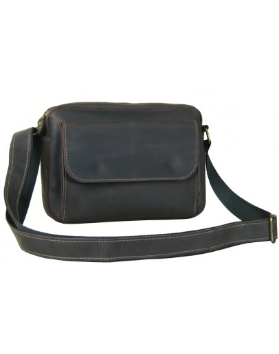Фотография Коричневая мужская горизонтальная кожаная сумка 870019-SGE