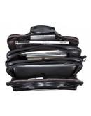 Фотография Вместительная мужская черная кожаная сумкаTiding Bag 8712A