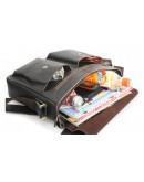 Фотография Классическая большая кожаная сумка на плечо коричневая 78737