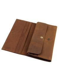 Коричневый мужской клатч - портмоне 8810B-1