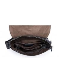 Чёрная сумка на каждый день из кожи m8835