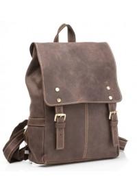 Стильный коричневый мужской кожаный рюкзак t8877-1