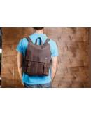 Фотография Стильный коричневый мужской кожаный рюкзак t8877-1
