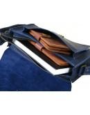 Фотография Женская синяя кожаная сумка на плечо 89943-SGE