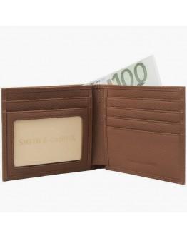 Коричневый кожаный кошелек Smith & Canova 90013 (Tan)