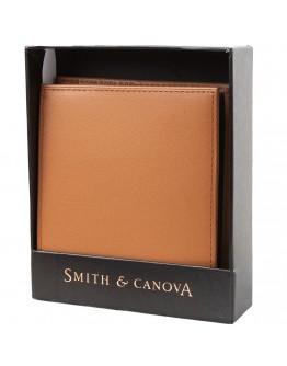 Мужской коричневый рюкзак Smith & Canova 90015 Asquith (Black-Tan)