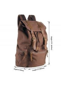 Большой коричневый рюкзак комбинированного стиля 79003b