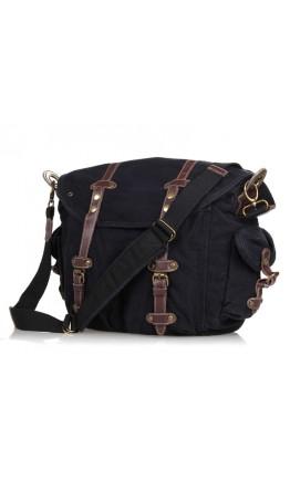 Большая сумка мужская на плечо, черный цвет 9006A