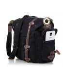 Фотография Большая сумка мужская на плечо, черный цвет 9006A