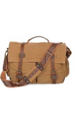 Тканевая стильная вместительная сумка на плечо 79009B