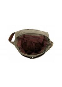 Вместительная сумка из ткани на плечо цвета хаки 79009N