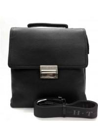 Мужская кожаная сумка на плечо и в руку 9010-8 BLACK